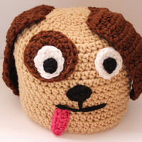 Children's Puppy Beanie Doggie Kids Crochet Beanie