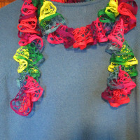NEON Colors  - 50 inch Summer Weight Ruffled Scarf