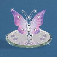 Glass Baron Butterfly Lavender With Crystals