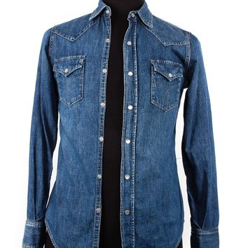 Saint Laurent Linen Blend Denim Shirt