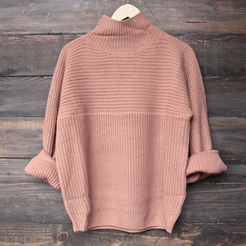 bella knit sweater - sable