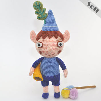 Elf Ben Soft Toy, From Ben and Holly's Little Kingdom, Crochet, Amigurumi
