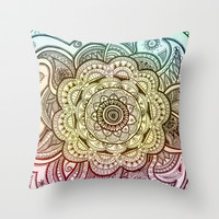 Mandala Throw Pillow by Sandy Broenimann
