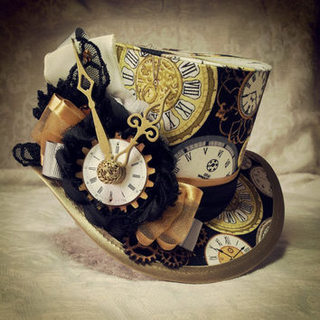"4"" top hat - Steampunk, Tesla, Clockwork, Carnival, Time Traveller, Mad Hatter, Tea, Adventurer, Explorer, Alternative, Festival, Sherlock"