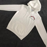 Christian Dior : Champion Flower Rose Embroidered Sweater Hoodie Pullover
