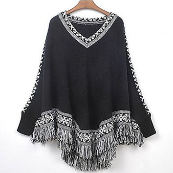 Women's Cape Sleeve Loose Sweater