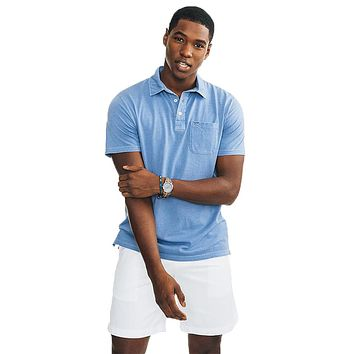 Island Road Jersey Polo in Squall Grey by Southern Tide