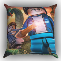 Harry Potter Lego2 Z1400 Zippered Pillows  Covers 16x16, 18x18, 20x20 Inches