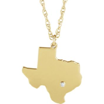 Diamond Texas Necklace