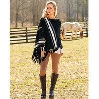 Westin Tassel Poncho by Mud Pie