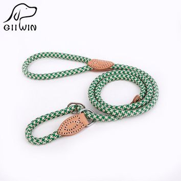 [GIIWIN]High Quality Nylon Adjustable Training Lead collar Dog Leash Dog Strap Rope Traction Dog Harness Collar Lead py0236