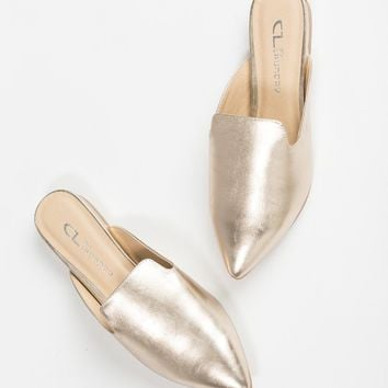 Chinese Laundry Happi Gold Mule Flat