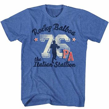 Rocky T-Shirt Distressed 76 PA Royal Heather Tee