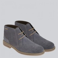 Barbour - Readhead Mid Grey Boots | SHOES | nigelclare.com