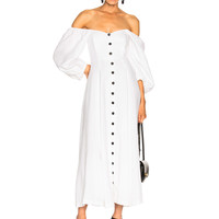 Mara Hoffman Mika Dress in White | FWRD