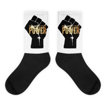 Know thyself, rise in power Black foot socks
