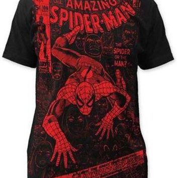 Marvel Comics Spider-Man Spider Or Man Adult T-shirt - Black