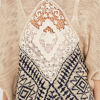 Staring at Stars Crochet-Back Cardigan - Urban Outfitters