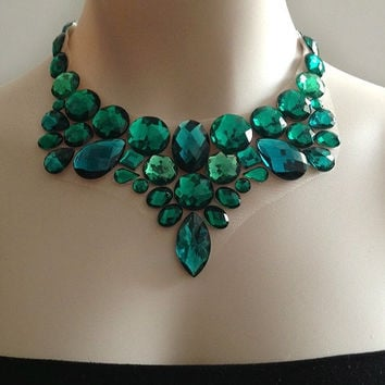 pin of a doloris blue green by athens necklace petunia statement kind one