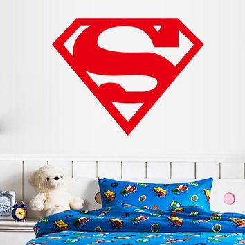 Free Shipping removable Creative Avengers superhero Superman logo , kids rooms home decoration wall stickers
