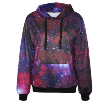 Galaxy Pattern Womens Sweatshirt Hoodies