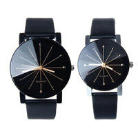 Women Quartz Clock Big Dial Wristwatch Lovers Couples Romantic Watches Fashion Round Case Dress Watches Gift
