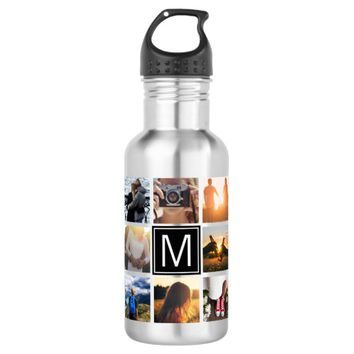 Monogram 8 Frame NGL Stainless Steel Water Bottle
