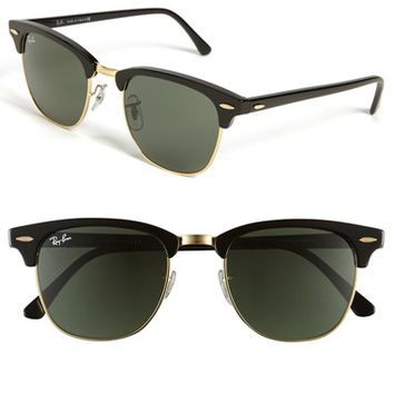 Men's Ray-Ban 'Classic Clubmaster' 51mm Sunglasses