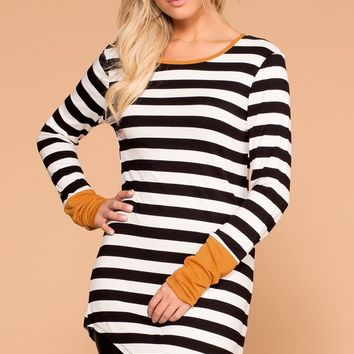 Kim Striped Long Sleeve Top