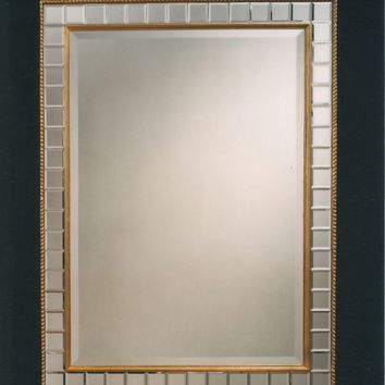 """29"""" x 38.5"""" Deco Baggett Mirror with Beveled Mirror Frame"""