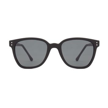 Komono - Renee Metal Series Black Sunglasses / Polycarbonate Solid Smoke Lenses