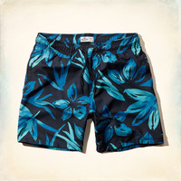 Floral Beach Prep Pull-On Swim Shorts