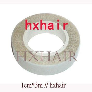 Freeshipping - 100pcs HIGH QUALITY 1cm*3m Double-Sided Adhesive Tape for SKIN WEFT Hair Extension