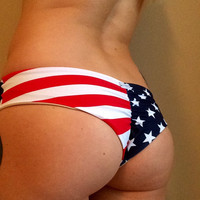 American Flag Scrunch Butt Stars n' Stripes Cheeky Bottom