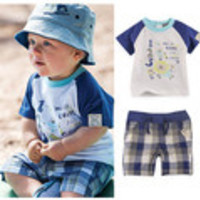 new 2014 baby boy summer clothing set/baby & kids clothes sets(t-shirt+shorts),baby suits children's fashion 2014 casual sets - Default
