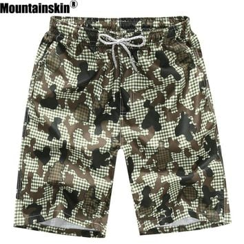 Mountainskin Quick Dry Men's Shorts 4XL Casual Summer Beach Shorts Men Women Breathable Boardshorts Camo Male Shorts Thin SA259