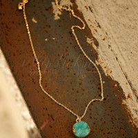 THE TAYLOR DRUZY NECKLACE IN OCEAN