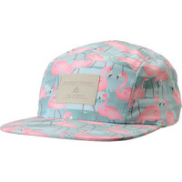Lira Girls Green Flamingo Print 5 Panel Hat at Zumiez : PDP