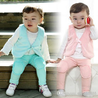 2014 Baby Girl Clothing Outwear Cotton Blends Sweet Leisure outdoor Waistcoat For Spring/Autumn 5pcs/lot