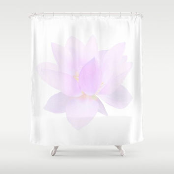 "Shower Curtain - 'Dew on petals' - 71"" by 74"" Home, Bathroom, Bath, Dorm, Girl, Decor, Fantasy, Floral, Flower, Abstract"