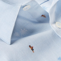 PS by Paul Smith - Slim-Fit Embroidered Cotton Shirt | MR PORTER
