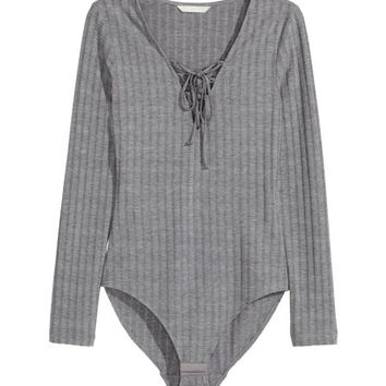 Bodysuit with Lacing - from H&M