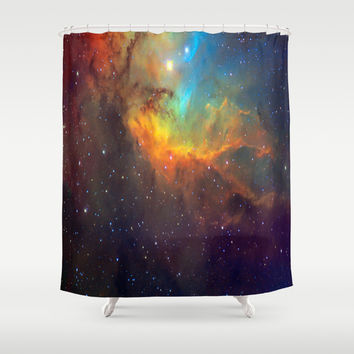 Tulip Galaxy stars Shower Curtain by Laureenr