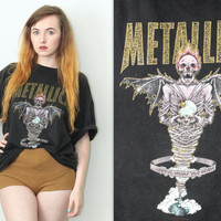 Vintage 90s Band Tee // Metallica King Nothing T Shirt // Careful What You Wish For // One Size / XS Extra Small / Small Medium Large