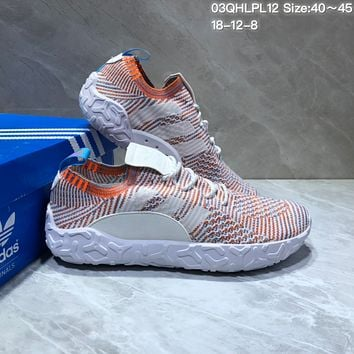 PEAP A458 Adidas F22 Primeknit Running Shoes Grey Orange