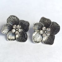 Crown Lilly Earrings Silver