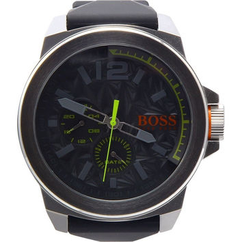Hugo Boss Orange Mens Black Rubber Strap Grey Dial 1513347 Watch
