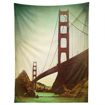 Shannon Clark Retro Golden Gate Tapestry