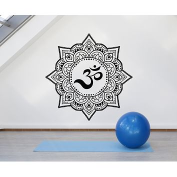 Vinyl Wall Decal Mandala Buddhism Meditation Gym Yoga Room Stickers Mural (g1367)