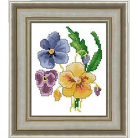 Pansies -  PDF Cross Stitch Pattern - INSTANT DOWNLOAD
